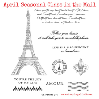 April Seasonal Class in the Mail www.stampingwithdi.com