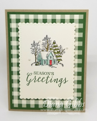 June Christmas Card of the Month Still Scenes www.stampingwithdi.com
