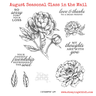 Prized peony stamp set class in the mail www.stampingwithdi.com