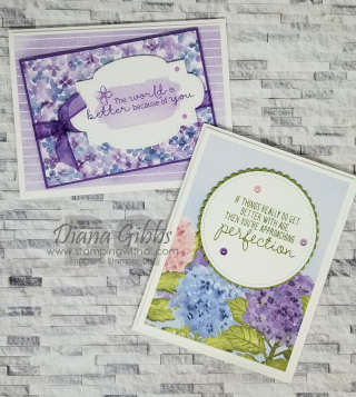 Hydrangea Hill DSP Cards stampingwithdi.com https://www.stampingwithdi.com/2021/01/how-to-make-quick-hydrangea-hill-cards.html