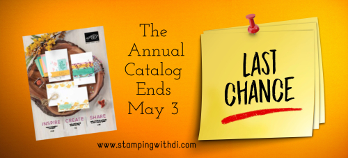 Last Chance annual catalog stamping with di