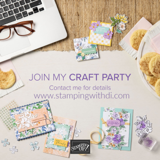 Join my Craft Party stamping with di  https://www.stampingwithdi.com/2021/05/happy-22nd-stampin-up-anniversary.html