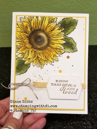 Teach Me Tuesdays Episode 31 Celebrate Sunflowers www.stampingwithdi.com