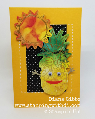 Pineapple Card June 2020 paper pumpkin box of sunshine www.stampingwithdi.com