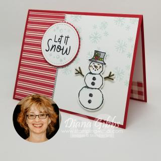 Snowman season card www.stampingwithdi.com