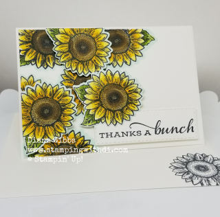 Celebrate Sunflowers Notecard www.stampingwithdi.com
