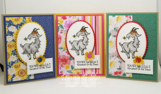 Way to Goat Trio www.stampingwithdi.com Flowers for Every Season DSP