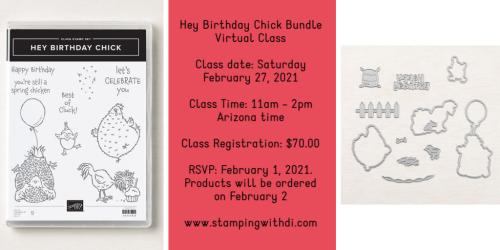 Hey Birthday Chick Bundle Virtual Class stampingwithdi https://www.stampingwithdi.com/2021/01/hey-birthday-chick-bundle-virtual-class.html