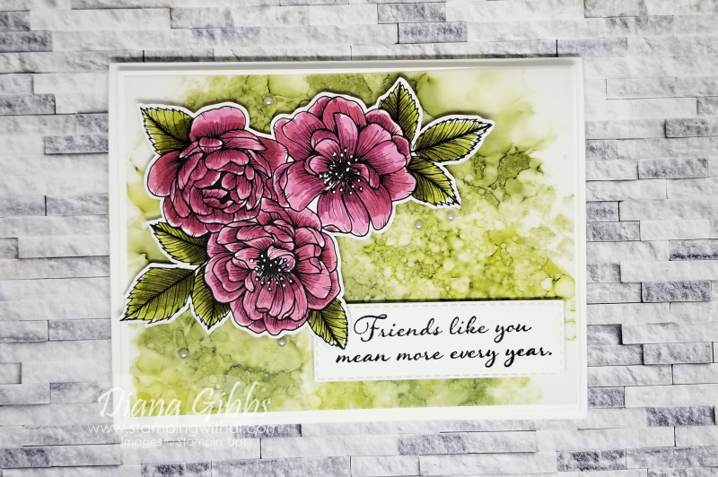 True Love DSP Alcohol Ink Art stamping with di