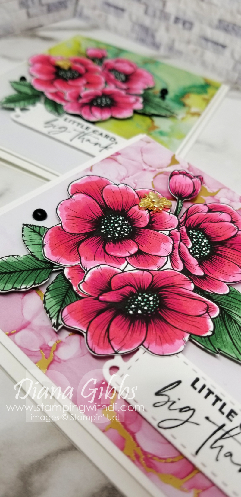 Expressions in Ink Pink stamping with di