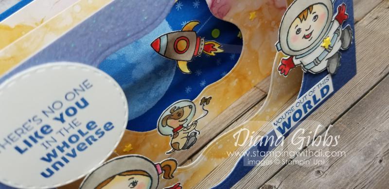 Stampin through the catalog stellar birthday peek-a-boo diorama stamping with di