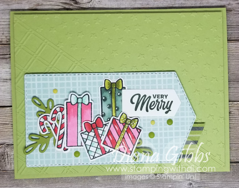 Sweet Little Stockings Mimeograph Monday stamping with di