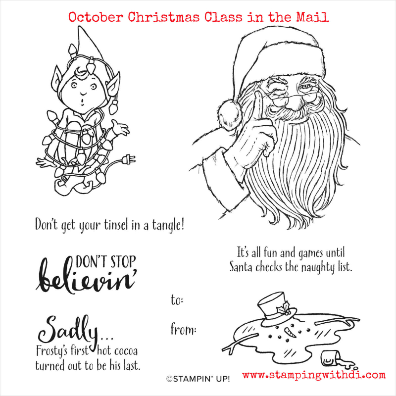 October Christmas Class in the Mail