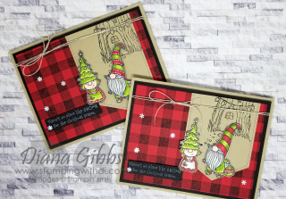 Gnome for the Holidays https://www.stampingwithdi.com/2020/12/buffalo-check-gnomes.html