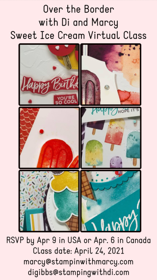 Sweet Ice Cream Class Sneak PeekSneaks Peeks of Sweet Ice Cream Cards - Sign up by April 9