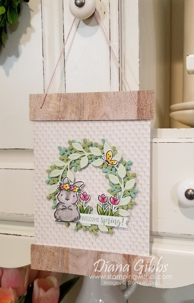 Wreath Builder Springtime Joy stamping with di