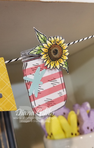 Mason jar and sunflower stamping with di https://www.stampingwithdi.com/2021/05/dont-miss-woodland-wonder.html