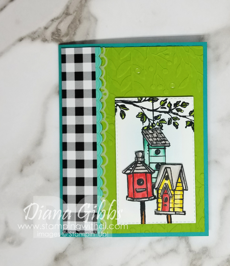 Garden Birdhouses stamping with di