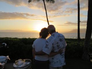Jeff and I last night sunset