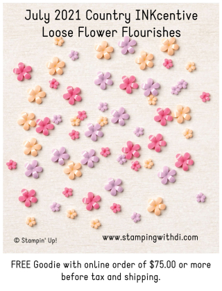 July INKcentive loose flower flourishes stamping with di