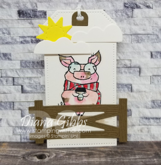 Joyful Life Little Pig tag stamping with di https://www.stampingwithdi.com/2021/08/5-cute-cards-made-with-the-little-pig-color-samples.html