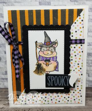Joyful Life Little Pig Halloween Card stamping with di  https://www.stampingwithdi.com/2021/08/joyful-life-little-pig-halloween-card.html