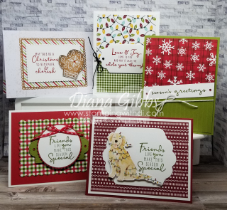 Christmas to Remember Class in the Mail stamping with di