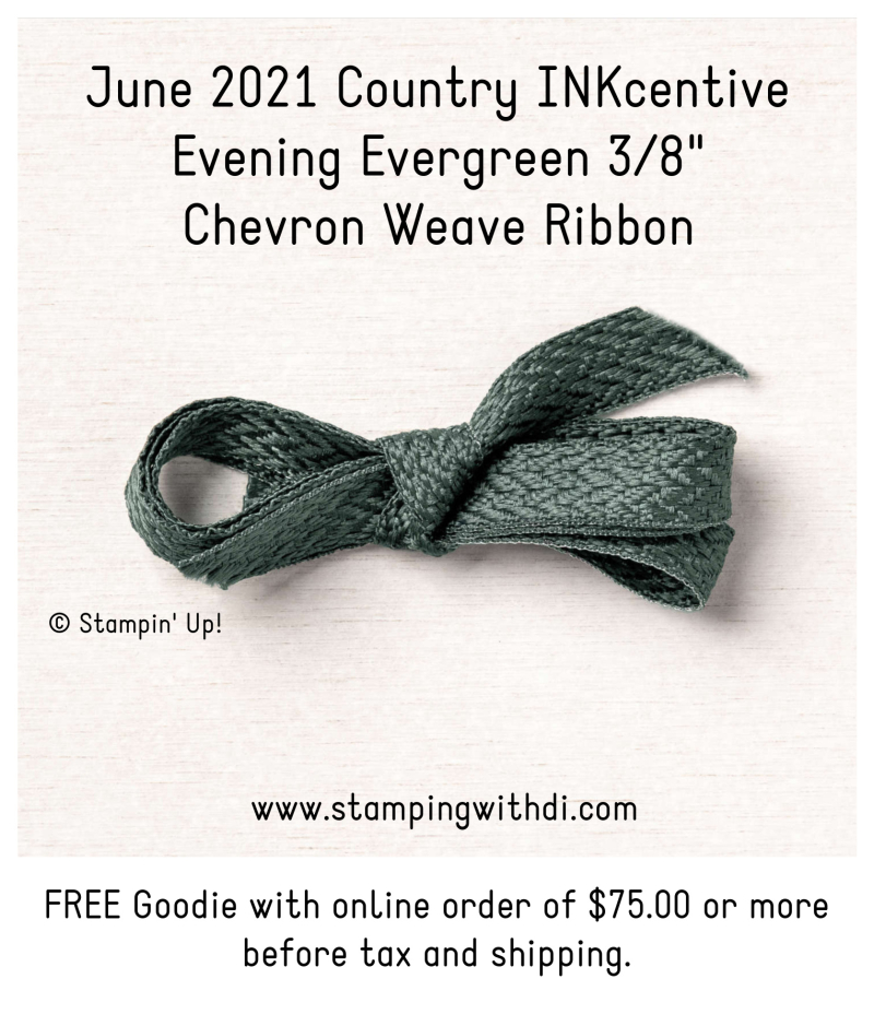 June Inkcentive evening evergreen chevron weave ribbon stamping with di