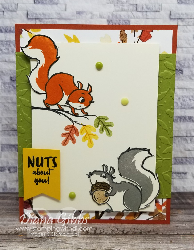 Nuts About Squirrels stamping with di
