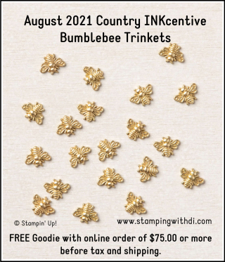 August INKcentive Bumblebee Trinkets stamping with di