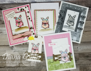 Joyful Life Cute Little Pig Card stamping with di https://www.stampingwithdi.com/2021/08/5-cute-cards-made-with-the-little-pig-color-samples.html